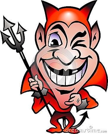 Vector illustration of an Red Devil