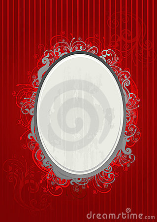 Vector illustration of red and gray frame