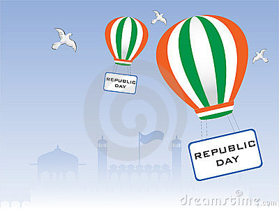 Vector illustration of Republic Day.