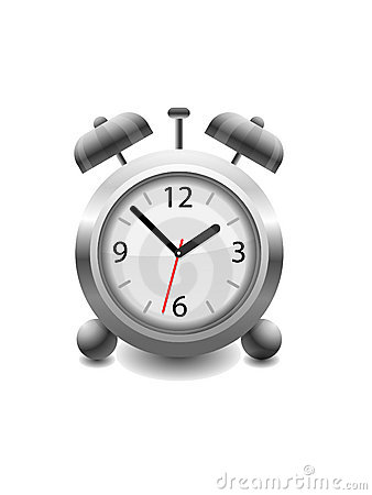 Vector Illustration of a retro analog Alarm Clock