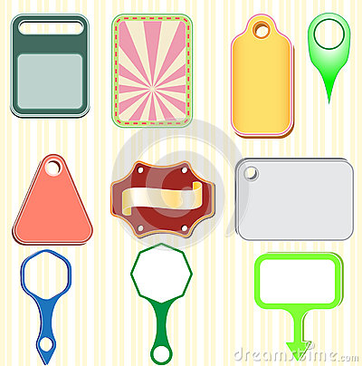 Vector illustration ribbons and labels