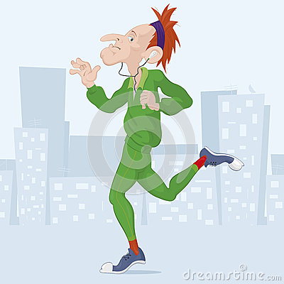 Vector illustration of a runner