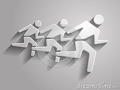 Vector illustration of  running mans icon