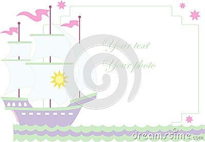 Vector illustration of sailboat