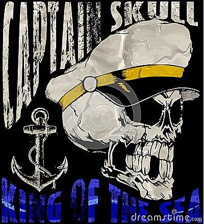 Vector Illustration Of Sailor Skull T Shirt Graphic Design Stock Vector Image 69374561