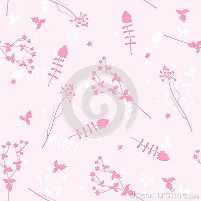 Vector seamless background with flowers.