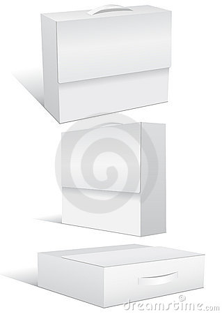 Vector illustration set of blank case or box