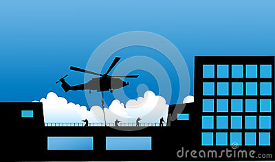 Vector illustration    Special Forces   SWAT Team