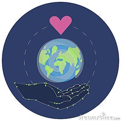 Vector illustration of a Sticker for World Environment Day. Vector Illustration