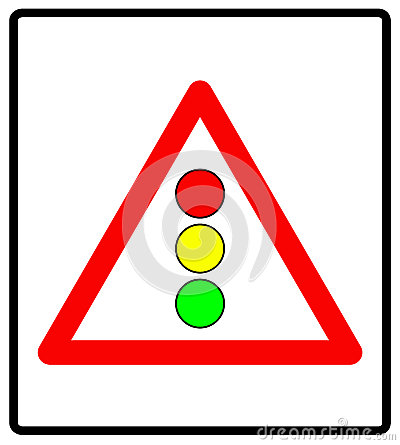 Vector illustration of traffic lights sign isolated on white background Vector Illustration