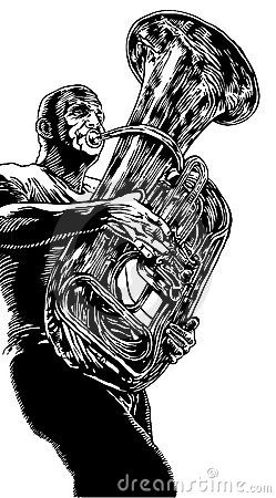 Vector illustration with trumpet
