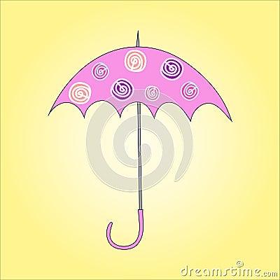 Vector illustration of umbrella