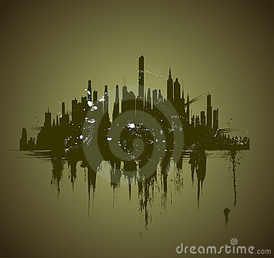 Vector illustration of urban skylines