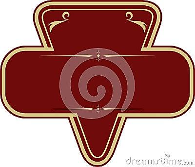 Vector illustration of vintage emblem frame