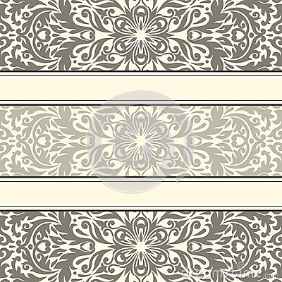 Vector illustration with vintage pattern.