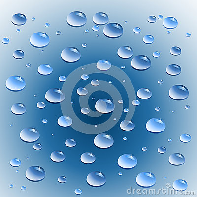 Vector water drops.