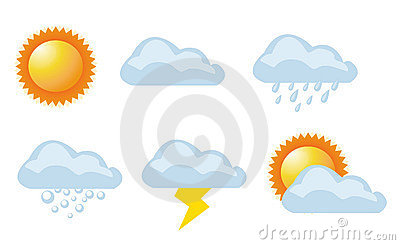 Vector illustration of weather