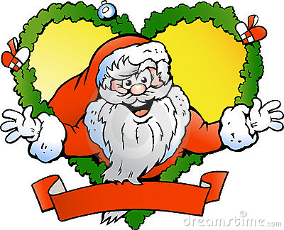 Vector illustration of an Welcoming Santa Claus