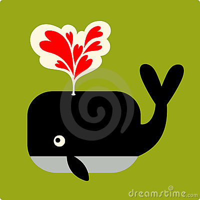 Vector Illustration of whale