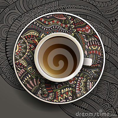 Free Vector Illustration With A Cup Of Coffee Stock Photos - 42498073