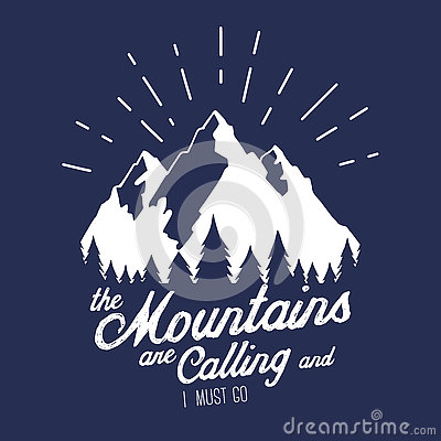 Free Vector Illustration With Mountains Peaks End Forest Stock Photo - 75078330