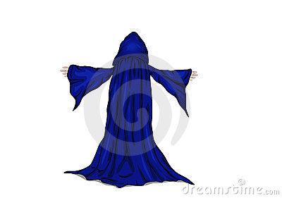 Vector illustration of a wizard or a monk.