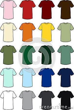 Blank Mens Tee Shirt Templates