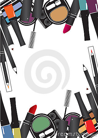 Vector illustrations of cosmetics