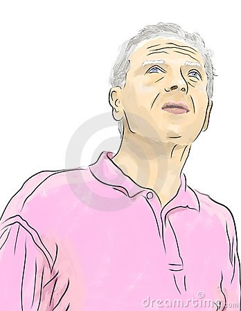 Vector illustrations, the elderly