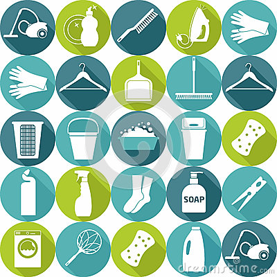Free Vector Illustratuon Of Cleaning.Icon Background. Royalty Free Stock Photography - 45263297
