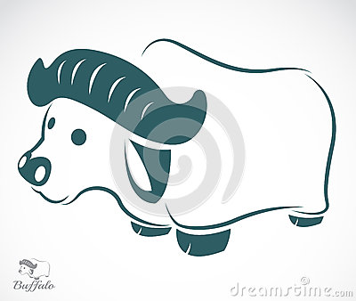 Vector image of an buffalo