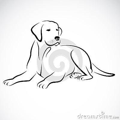 Vector image of an dog labrador Vector Illustration