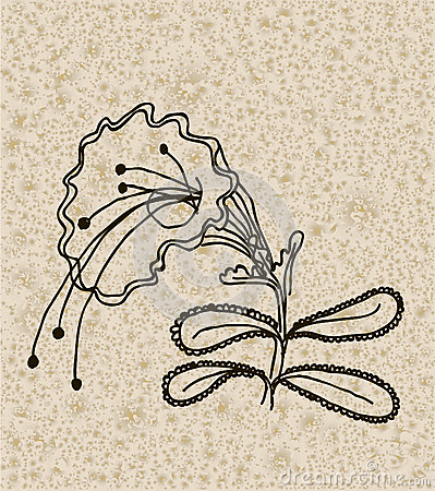 Vector image of a flower in vintage style