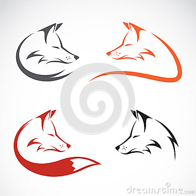 Vector image of an fox design Vector Illustration