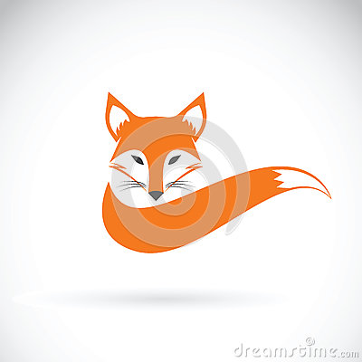 Vector image of a fox design on a white background. Vector Illustration