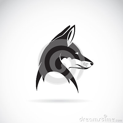 Vector image of an fox head Vector Illustration