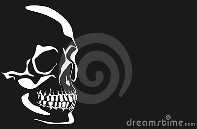 Vector image of a human skull