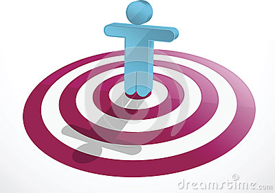 Vector image of a man as target