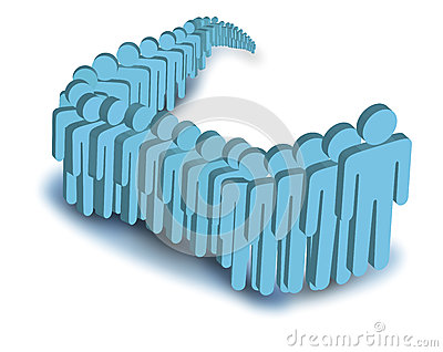 Vector image of people in line