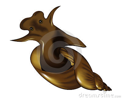 Vector image of a snail, tattoo
