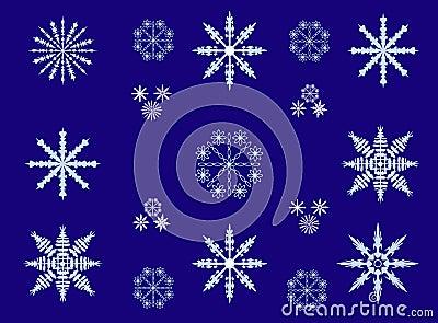 Vector image snowflakes