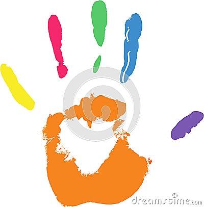Vector imprint of hand