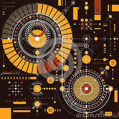 Free Vector Industrial And Engineering Background, Future Technical P Stock Photos - 66203513