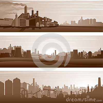 Free Vector Industrial Backgrounds, Urban Landscapes Royalty Free Stock Image - 85028146