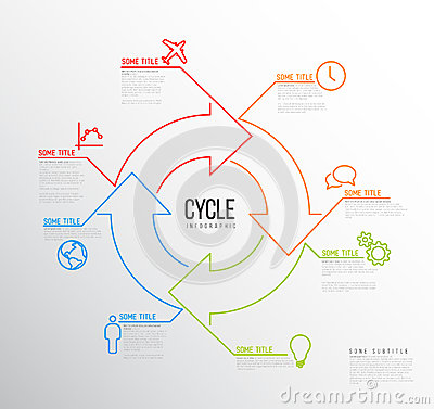 Infographic Ideas infographic lines : Vector Infographic Report Template Made From Lines And Icons Stock ...