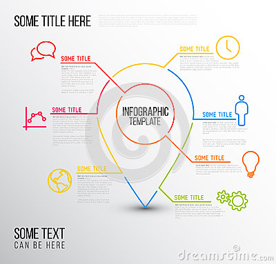 Infographic Ideas infographic lines : Infographic Timeline Report Template With Lines Stock Vector ...