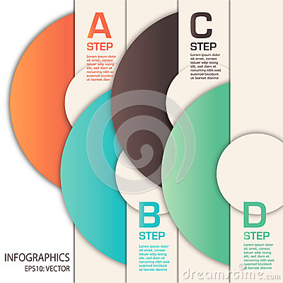 Free Vector Infographics Template With Circles Stock Images - 29758644