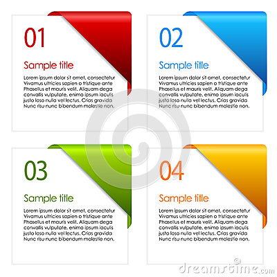 Free Vector Information Cards Royalty Free Stock Photos - 29141928