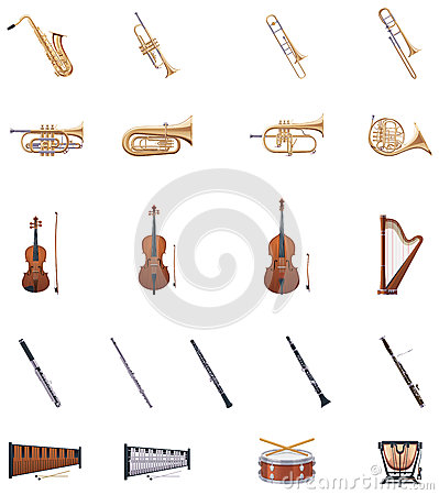 Free Vector Instruments Of The Orchestra Royalty Free Stock Photography - 29208297
