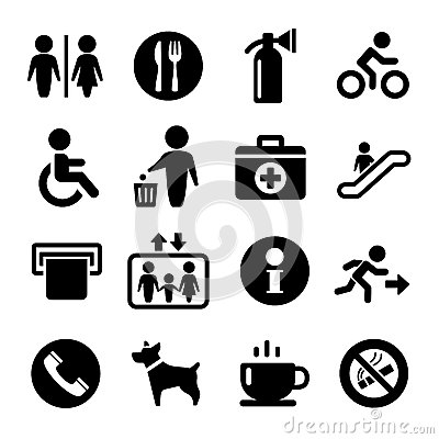 Free Vector International Service Signs Icon Set Stock Photo - 35665550